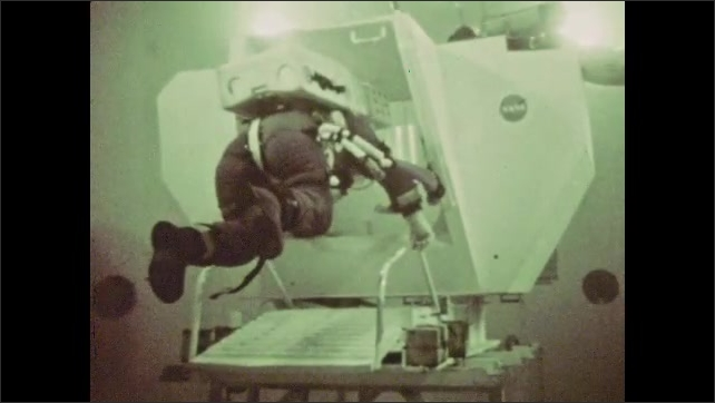 1970s: astronaut experience zero gravity conditions in an underwater training module