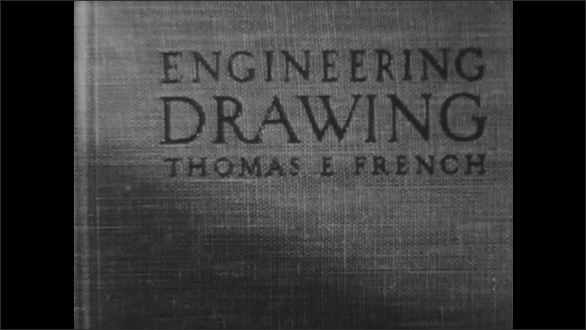 1950s: Book title Engineering Drawing. Book opens to Chapter 9, Sections and Conventions.