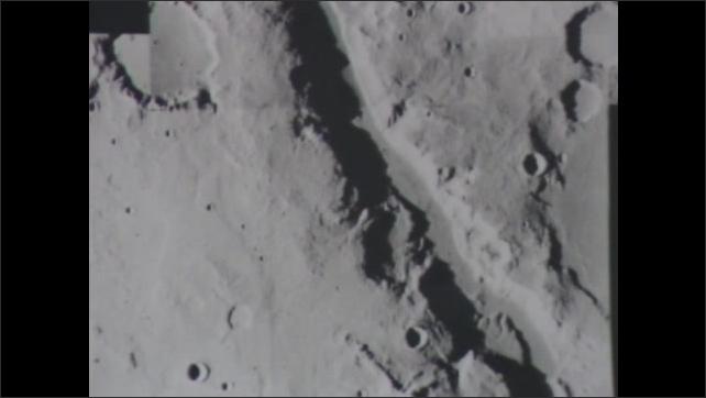 1980s: Satellite orbits Earth. Asteroid tumbles through space. Photographs of Mars. Viking spacecraft orbit Mars.