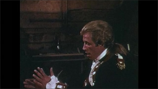 1970s: Colonel gives order to his lieutenant. Colonel thinks out loud to himself.