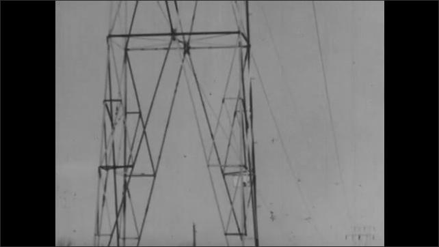 1940s: Power lines.