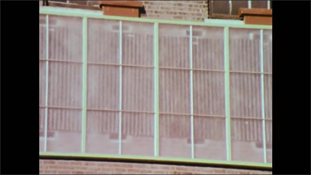 1970s: UNITED STATES: Cuando Solar energy Wall banner. First passive solar energy system in New York City. Community energy generation project.