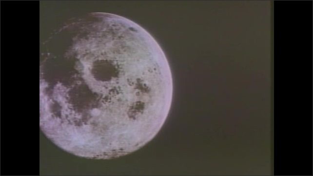 1980s: The moon slowly passes by.