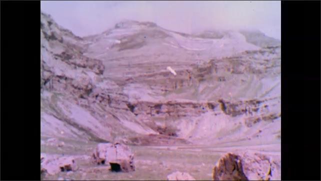 1950s: Mountains.  Waterfalls.