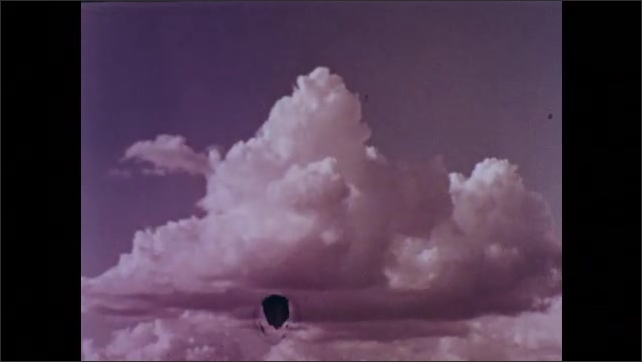 1960s: UNITED STATES: wind blows away good soil from farmland. Clouds form in sky.