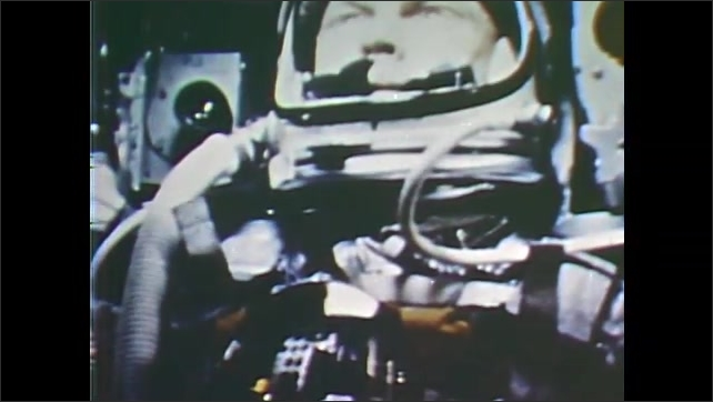 1960s: Glenn the astronaut experiences the booster rockets firing and slowing the capsule.