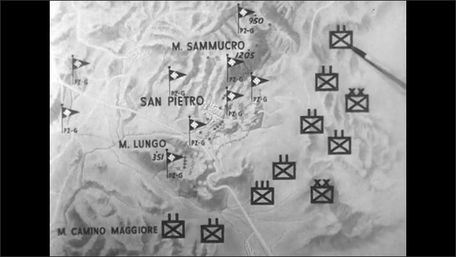 ITALY 1943: Army Trucks Drive Along Italian Dirt Track