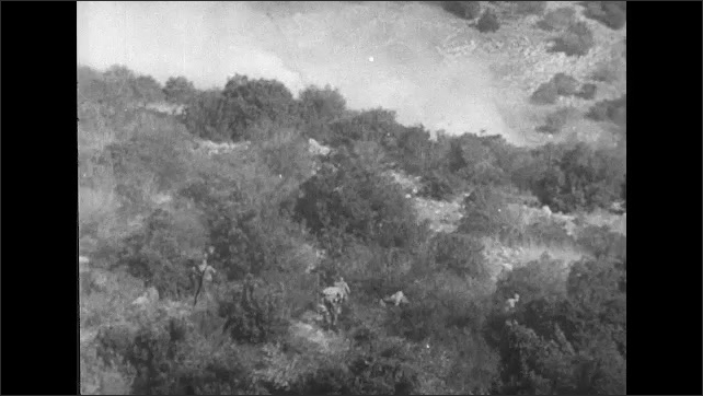 ITALY 1943: Soldiers Lay Low in exposed Valley and Olive Groves