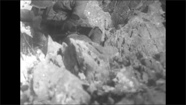 ITALY 1943: Injured Soldier on a Stretcher
