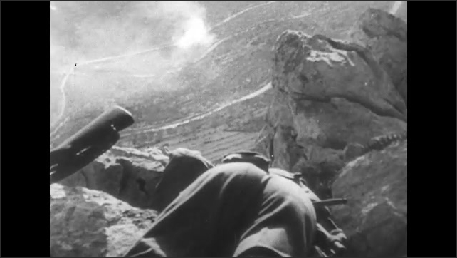 ITALY 1943: Bodies of Soldiers on a Mountain Slope