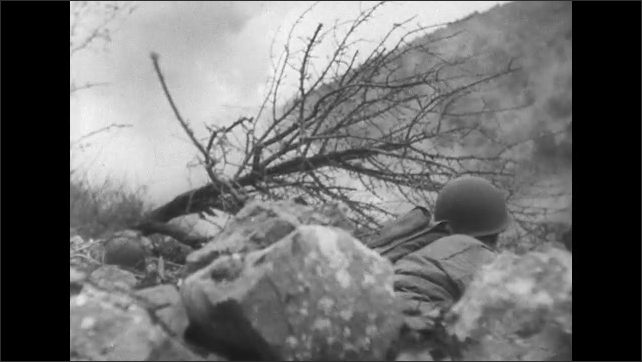 ITALY 1943: Men on the Front line During Counter Attacks in San Pietro