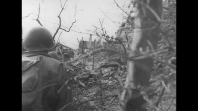 ITALY 1943: Soldiers on Patrol as Enemy Surrenders