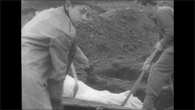 ITALY 1943: Young Soldiers Bury their Dead