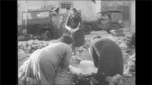 ITALY 1943: Men and Women Rebuilding their Lives in San Pietro After the War
