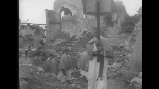 ITALY 1943: Statue of St Peter, Patron Saint of San Pietro