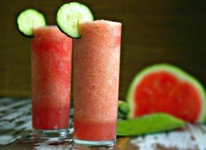 Aloe Vera, Cucumber and Water Melon Slushy