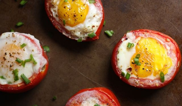 Baked Egg Tomato Cups