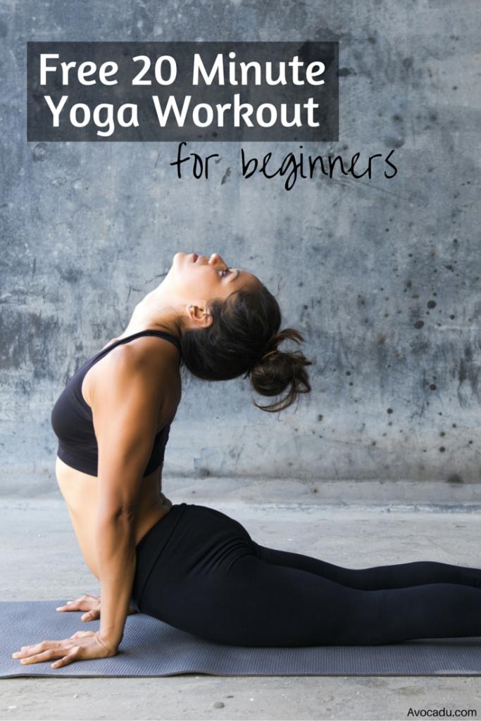 20 Minute Yoga Workout For Beginners Avocadu.com