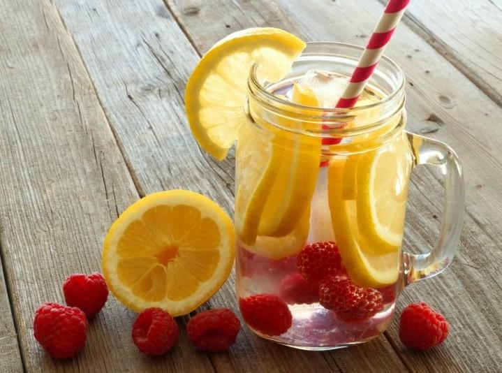 lemon and raspberries are great ingredients for detox waters