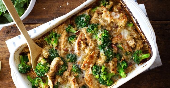 Creamy Chicken Broccoli Quinoa Casserole