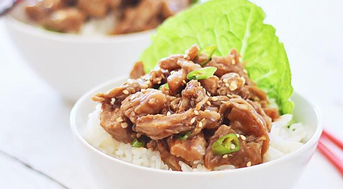 Crock Pot Honey Sesame Pulled Pork - Healthy Dinner Recipes
