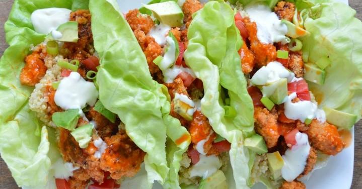 Buffalo Chicken Lettuce Wrap