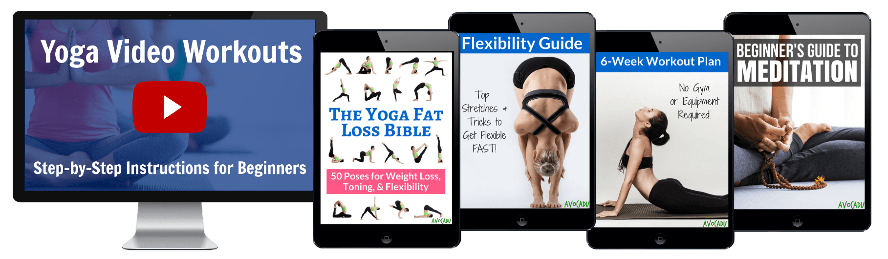 yoga fat loss bible video bundle by avocadu