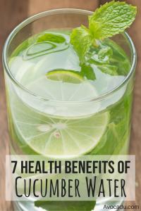 7 Health Benefits of Cucumber Water | Avocadu.com