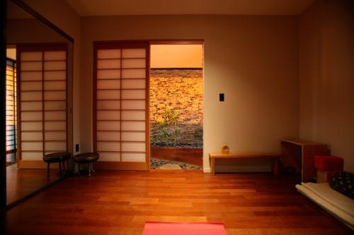 Technology free meditation room