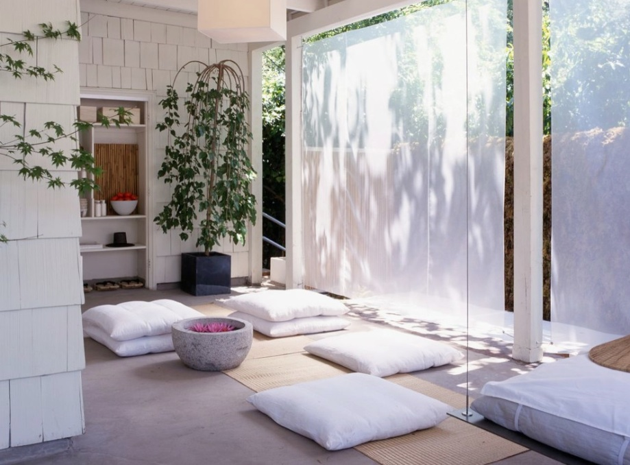meditation room design with nature