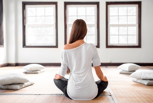 bright and well lit meditation room design