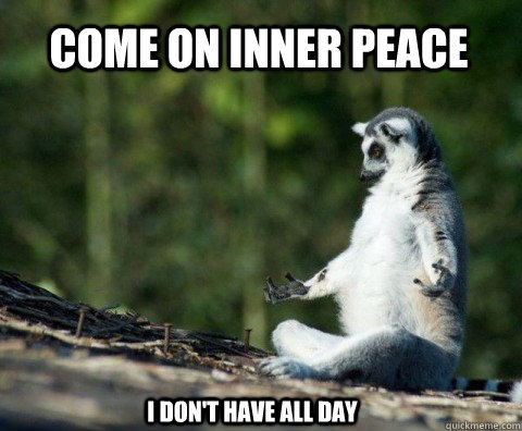 Funny photo about meditation