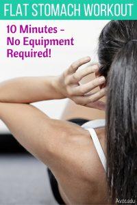 10 Minute Flat Stomach Workout - No Equipment Required! | Avocadu.com