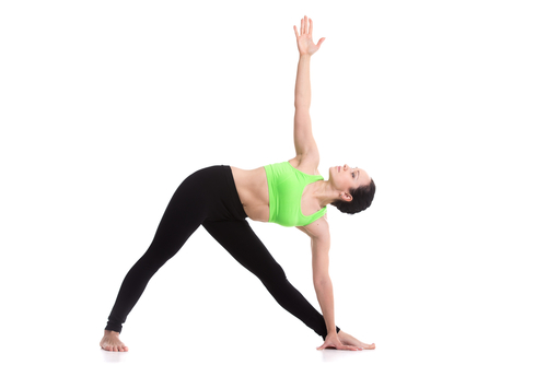 Triangle Pose - #6 of the yoga poses for weight loss