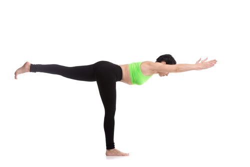 Warrior III - #4 of the yoga poses for weight loss