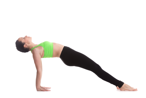 Reverse Plank - #5 of the yoga poses for weight loss