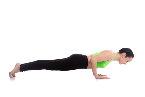 Four-Limbed Staff Pose - #3 of the yoga poses for weight loss