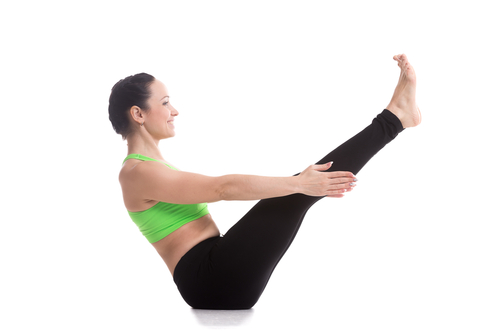 Boat pose - #1 of the yoga poses for weight loss