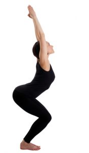 Chair Pose - #7 pose in 20 minute yoga workout