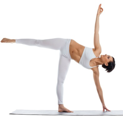 Half Moon Pose -Ardha Candrāsana is a great yoga pose to help you lose weight
