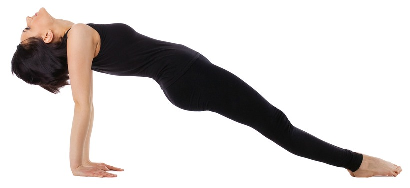 Upward (Reverse) Plank Pose -Purvottanasana to lose weight