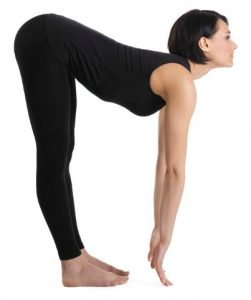 Standing Half Forward Bend - #9 pose in 20 minute yoga workout