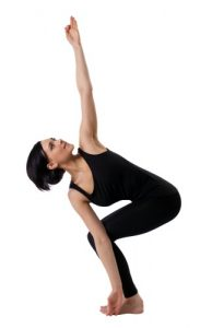 Revolved Chair Pose - #8 pose in 20 minute yoga workout