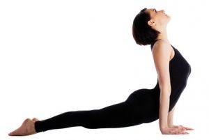 Upward Facing Dog - #6 pose in 20 minute yoga workout