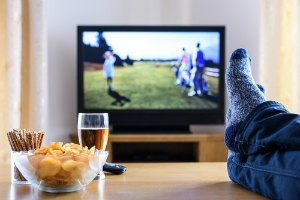 eating in front of tv gain weight