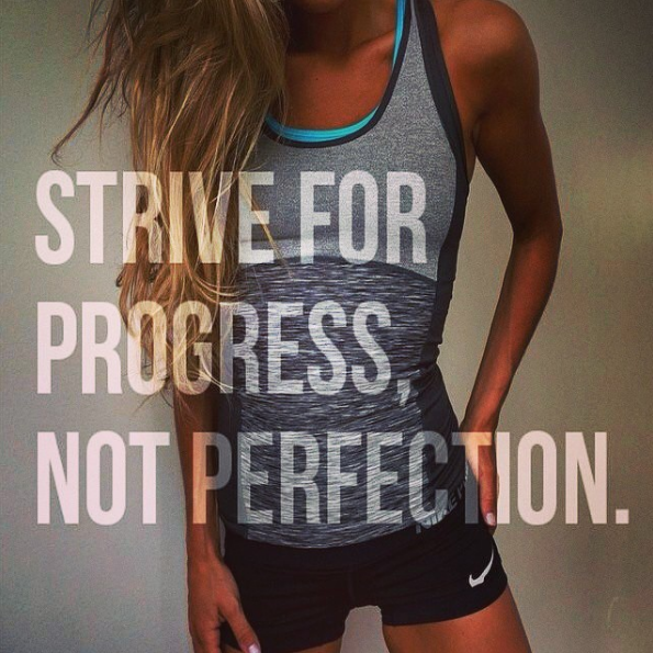 progress not perfection fitness motiavtion quote