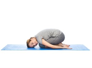 child's pose asana for weight loss