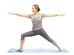 Warrior II yoga pose asana