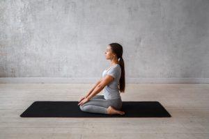 hero basic yoga pose for beginnres