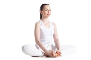 bound angle pose to relieve pain